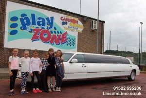 Kids party limo to Play Zone Lincoln copy
