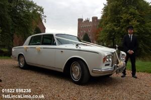 Rolls Royce wedding car at Tattershall Castle copy