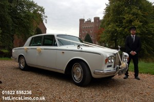 Rolls Royce wedding car at Tattershall Castle copy