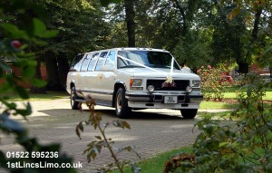 Suburban stretch wedding limo copy