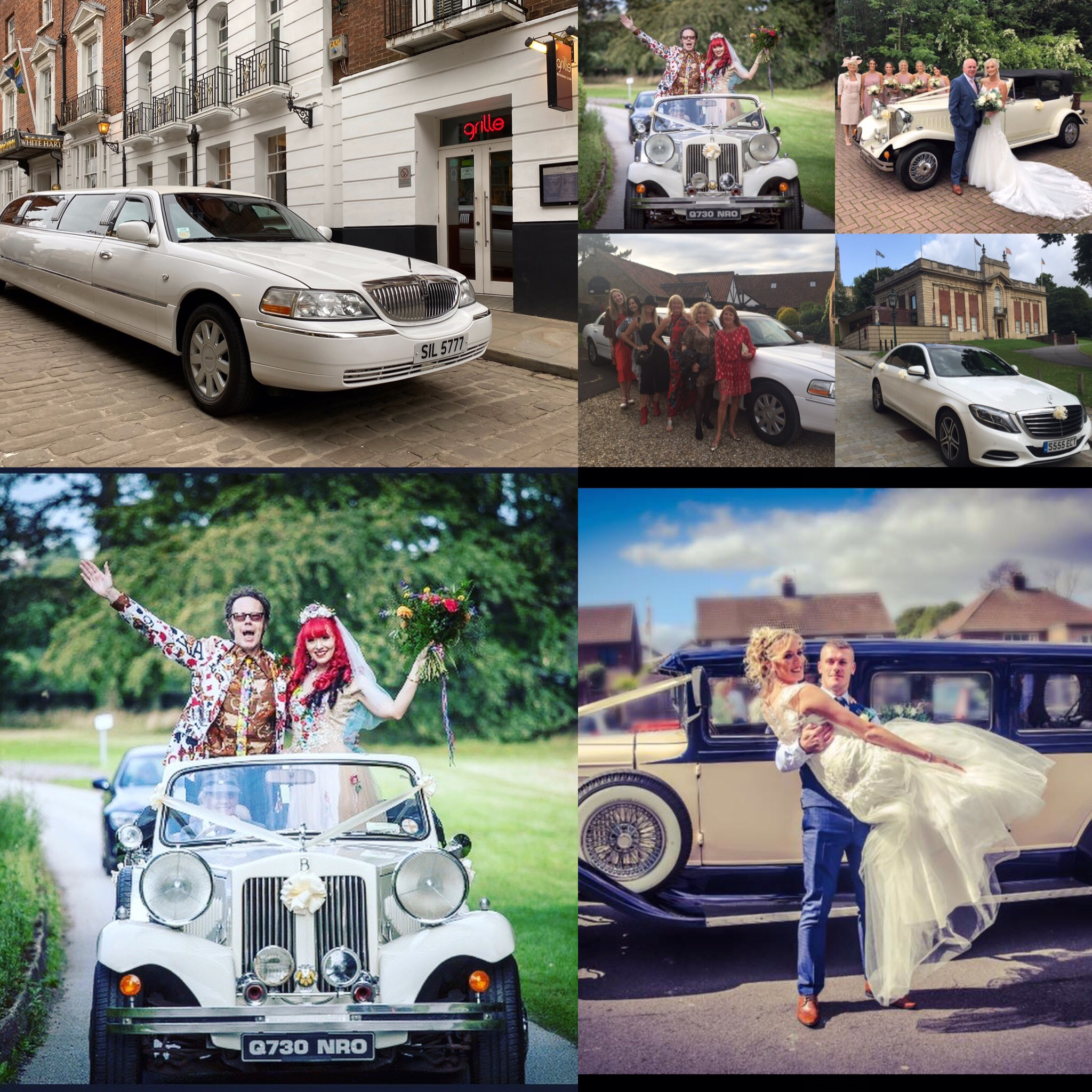 wedding limo vintage cars